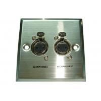 Quality Wall Plate Module Commercial Ceiling Speakers 2 x 3pin XLR Female for sale