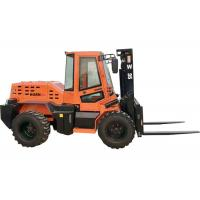 Quality Rated Load 3.5 Ton Diesel Forklift , Four Wheel Drive Small Rough Terrain Forklift for sale