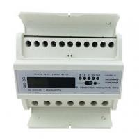 Quality DTS155 Three-Phase Four Wires DIN Rail Electric Meter with Carrier Communication Module for sale