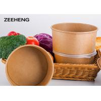 Quality Waterproof Flexo Printing Disposable Paper Soup Bowls Dinnerware For Noodles for sale