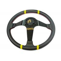 Buy 3 Inch Diameter Race Car Steering Wheel , Leather Steering Wheel Cover  at wholesale prices