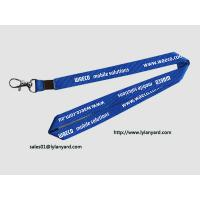 China Mobile Solutions Silk Screen In White Print Neck Lanyard 36 with Metal Crimp on sale