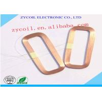 Quality Square Air Core Inductor Coil Bobbin , Gold Copper Induction Coil Winding for sale