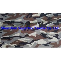 Quality Polyester Oxford Paper PU Breathable Coated Fabric Camo Print Leisure Military Uniform 300D 150GSM for sale