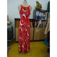 Buy Beautiful Womens Summer Maxi Dresses Single Jersey Maxi Dress Coral Abstract Printing at wholesale prices