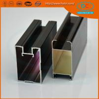 Quality Customed  Champage brush aluminum window profile, Matt aluminum window section, window profile for sale