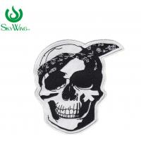 Quality Laser Cut Durable Black And White Motorcycle Patches Customized Size for sale