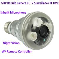 Quality 720P IR Night Vision LED Array Bulb Camcorder CCTV Surveillance DVR Camera Remote Control for sale