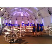 China Luxury Glass Marquee Tent With Clear Roof For 500 People 75kgm Snow Load for sale