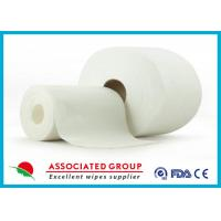 Quality Non Woven Embossed / Big Dot Texture Spunlace  With Viscose and Polyester for sale