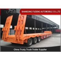 Quality 3/4 Axles Transport Heavy Duty Equipment 60 Tons Lowboy Semi Trailer for sale