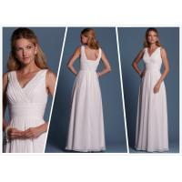 Quality Sheath Chiffon Beach wedding dress Bridal gown#6472 for sale
