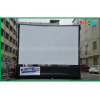 Quality Outdoor Inflatable Movie Screen Oxford Cloth Material WIth Frame For Projection for sale