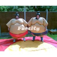 Quality PVC Inflatable Sport Games , 1.2m / 1.5m Orange / Yellow Kids Sumo Suit for sale