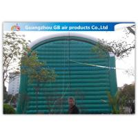 China 0.9mm Pvc Tarpaulin Green Inflatable Air Tent For Family Outdoor Events for sale