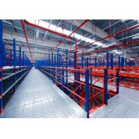 Buy Powder Coating Warehouse Storage Mezzanine Racking System For Factory And Industrial at wholesale prices