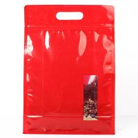 Quality Red Color Stand Up Ziplock Bags Food Grade Material For Potato Cracker for sale