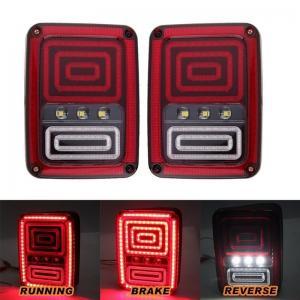 Quality Black LED Tail Lights Rear Light For Jeep Wrangler JK 07-16 Rear Bumper Tail Lamp for sale