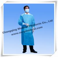Quality Sterile Surgical Gown Fluid Resistant Lab Coats Surgeon Protection With Knit Sleeves for sale