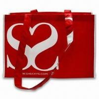 Quality RPET Handy Shopping Bag with Silkscreen or Laminated Logo, Customized Designs are Welcome for sale
