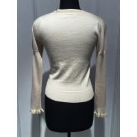 Buy Breathable Pullover Knit Sweater , White Pull Over Sweaters For Women at wholesale prices