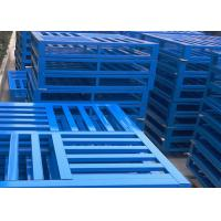 Buy Durable Economical Heavy Duty Pallets , Custom Metal Pallets For Food / Pharmaceutical / Chemical Industries at wholesale prices