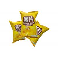 Quality Custom Printed Plastic Middle Seal Potato Chips Packaging Bag Food Pouch for sale