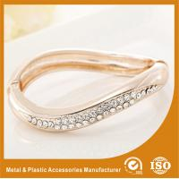 Quality Small Rhinestone Solid Silver Metal Bangles For Girls Jewellery for sale