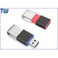 Buy cheap Sliding Crystal LED Light On 3D Laser Logo 4GB USB Flash Pen Drive from wholesalers