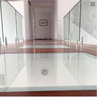 Quality Residential Interior Glass Railings Stainless Steel Spigots Railing Design for sale