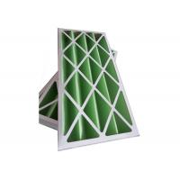 Quality Rigid Pleated Panel Air Filters , Clean Room Pre Filter G1 - G4 With Cardboard Frame for sale