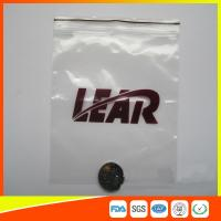 Quality PVC Poly Plastic Packing Ziplock Bags Waterproof  Resealable With Zipper for sale