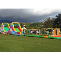 China Funny Outdoor Inflatable Obstacle Course Cartoon Multicolor Long Service Life on sale