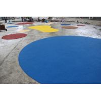 Quality Environmental Playground Rubber Flooring , Fire Resistance Rubber Playground Material for sale
