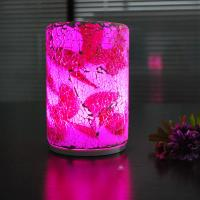 Quality Fashionable  crack pattern intelligent remote glass 90*140mm size LED table lamp. for sale