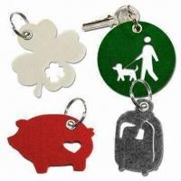 Quality Laser-cut Felt Free Form Keychains with Metal Eyelet Punched for sale