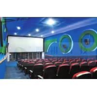 Quality 4D Cinema Equipment Electric Pneumatic 3 Seat / 4 Seat Motion Chairs Leather for sale