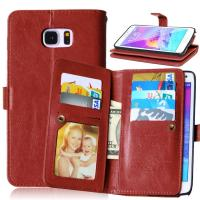 Buy Samsung Galaxy Note3 Note4 Note5 Wallet Case Retro Cover Bags Pouch 9 Cards Slot Holder at wholesale prices