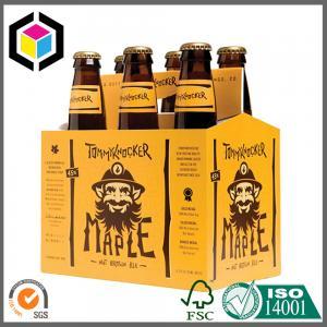 Quality CMYK Full Color Printing 6 Pack Beer Carrier Box; 330ml Beer Bottle Carrier for sale
