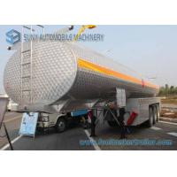 Quality SUS304 Chemical Liquid Oil Tank Trailer 35000L Alcohol Tanker 3 Axles for sale
