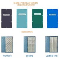 Quality Noise Blanket Easy To Install With Construction Fence Panels 40dB noise reduction Minimum for sale