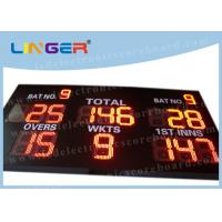 Quality 12 inch Digit in Red Color LED Cricket Scoreboard Hanging / Mounting Installation for sale