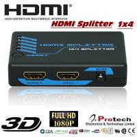 China 1 to 4 port HDMI Splitter 3D 1080P  PET0104M for sale