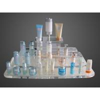 Quality Eco Friendly Customize Acrylic Makeup Case Organizer Blue Mirror Protection for sale