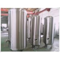 Quality Elliptical Dish End Stainless Steel Air Receiver Tank , Pneumatic Pressure Vessel for sale