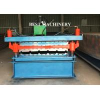 Buy BV / SGS Roofing Sheet Roll Forming Machine Galvanized PPGI Corrugated Trapezoid at wholesale prices