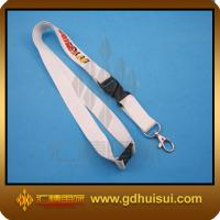 Quality white color lanyards heat transfer for sale
