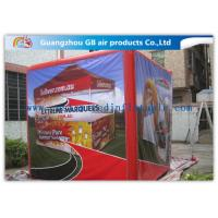 Fire - Proof Red Inflatable Cube Tent Custom Printed Tent for Advertising for sale