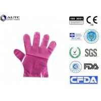 Quality Polyethylene Disposable Plastic Gloves , Food Serving Gloves Waterproof Light for sale