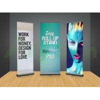 Quality Casting Free Standing Banner Frame , Horizontal Banner Stands Retractable for sale